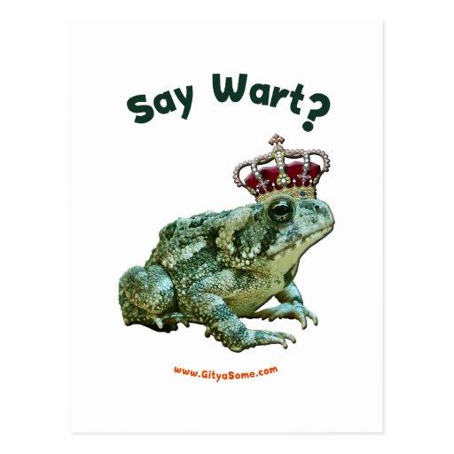 Diga al príncipe del sapo de la rana de la verruga tarjetas postales