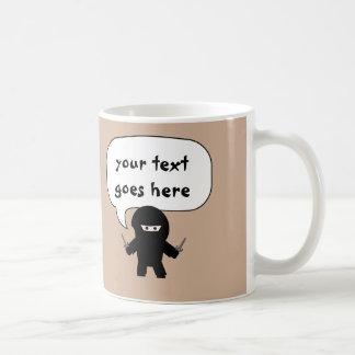 diga cualquier cosa taza del ninja