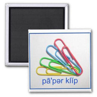 Diga el imán del clip de papel