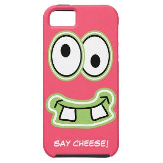 ¡Diga el queso! El monstruo lindo tonto Iphone iPhone 5 Fundas