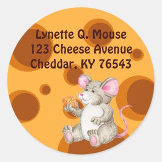Diga el queso pegatina redonda