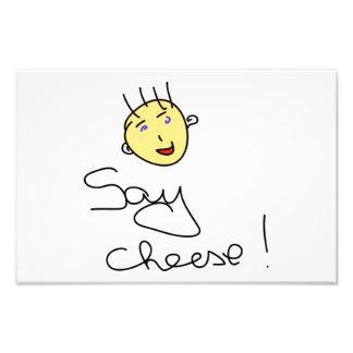 Diga el queso arte con fotos