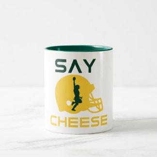 Diga el queso taza de dos tonos