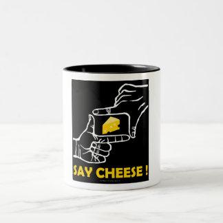 ¡Diga el queso! Taza De Dos Tonos