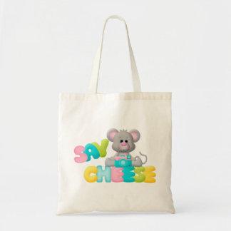 Diga el regalo del ratón del queso para los niños bolsa tela barata