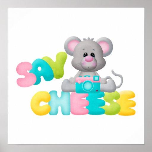 Diga el regalo del ratón del queso para los niños impresiones