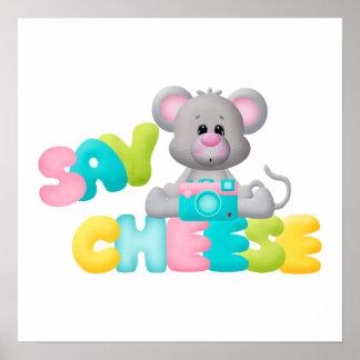 Diga el regalo del ratón del queso para los niños póster