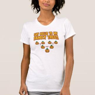 Diga hola a mi árbol de familia camiseta