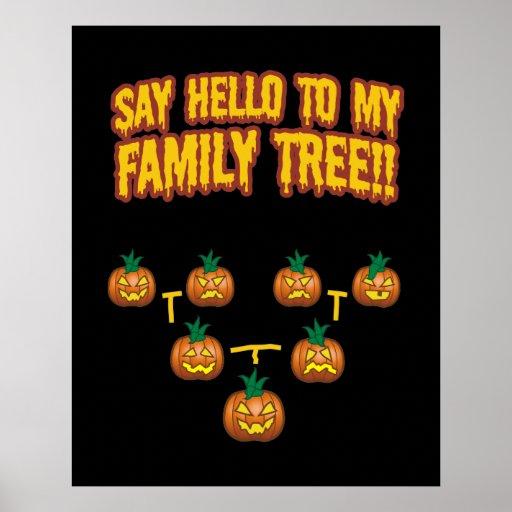 Diga hola a mi árbol de familia póster