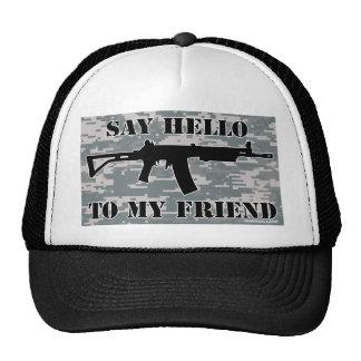diga hola a mi gorra del camionero del rifle de as
