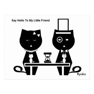 Diga hola a mi pequeña postal del amigo
