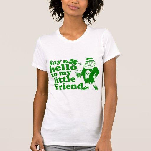 Diga hola a mi pequeño amigo camiseta