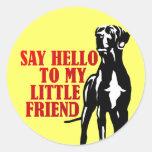diga hola a mi pequeño amigo etiqueta
