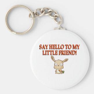 Diga hola a mi pequeño amigo llavero redondo tipo pin
