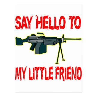 Diga hola a mi pequeño amigo postal