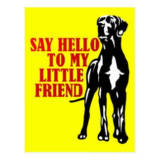 diga hola a mi pequeño amigo postales