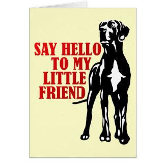 diga hola a mi pequeño amigo tarjeta de felicitación