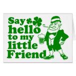 Diga hola a mi pequeño amigo tarjeta
