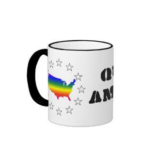 Diga hola al maricón América de GLBT Taza De Café