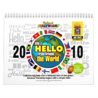 Diga HOLA de alrededor del mundo Calendarios