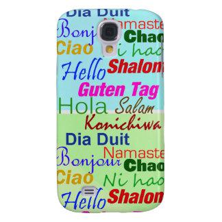Diga hola el caso del iPhone 3 de las idiomas