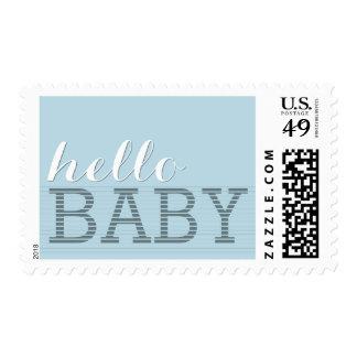 Diga hola el nacimiento del bebé y riegue el timbre postal
