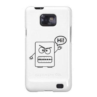 ¡Diga hola! Robot:) Samsung Galaxy SII Carcasas