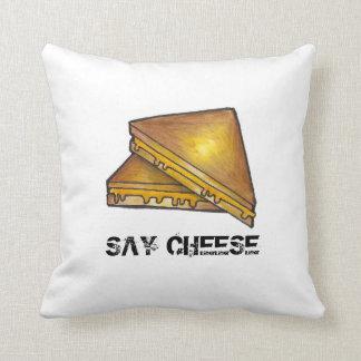 Diga la almohada tostada asada a la parrilla queso cojín decorativo