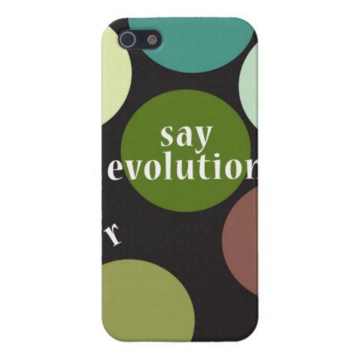 """""""Diga la evolución """" iPhone 5 Protectores"""