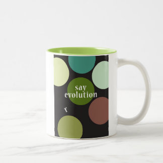 """""""Diga la evolución """" Taza De Café De Dos Colores"""