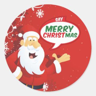 Diga las Felices Navidad, de los pegatinas de Pegatina Redonda