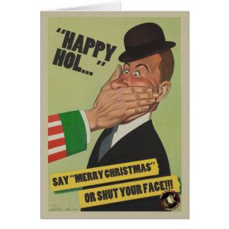 """Diga """"las Felices Navidad"""" o cierre su tarjeta de"""
