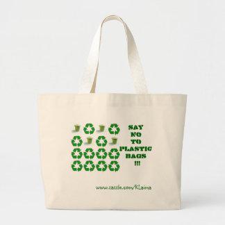 ¡Diga los plasticbags de NOto www zazzle com Bolsa Lienzo