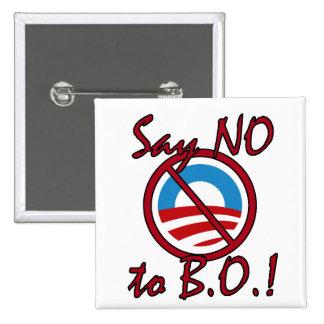 Diga NO a B.O. Button Pin Cuadrada 5 Cm