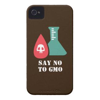 Diga no a GMO Case-Mate iPhone 4 Fundas