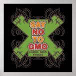 Diga no a GMO Póster