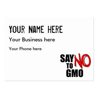Diga NO a GMO Tarjetas De Visita Grandes