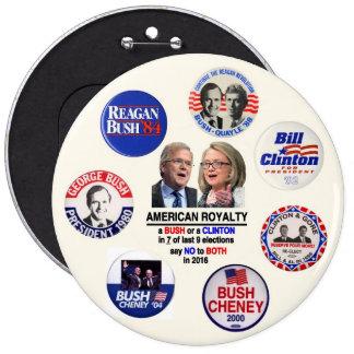 Diga no a Jeb y a Hillary en 2016 Pin Redondo 15 Cm