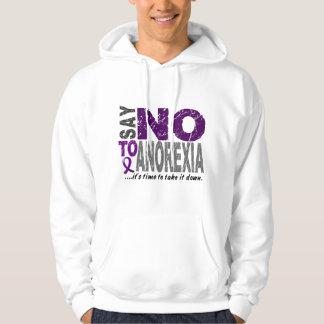 Diga NO a la anorexia 1 Sudadera