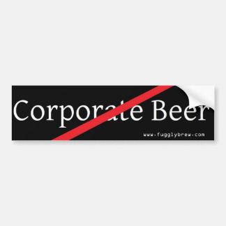 ¡Diga no a la cerveza aguada efervescente! Pegatina Para Auto