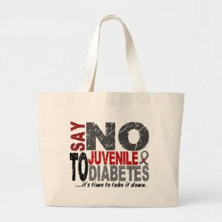 Diga NO a la diabetes juvenil 1 Bolsa De Mano