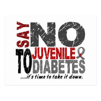 Diga NO a la diabetes juvenil 1 Postales