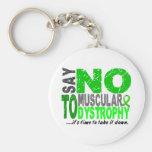 Diga NO a la distrofia muscular 1 Llavero Personalizado