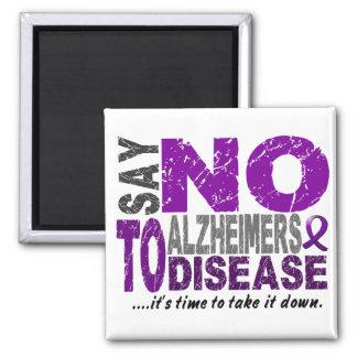Diga NO a la enfermedad 1 de Alzheimers Imán Cuadrado