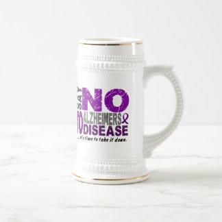 Diga NO a la enfermedad 1 de Alzheimers Taza De Café
