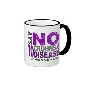 Diga NO a la enfermedad 1 de Crohns Tazas