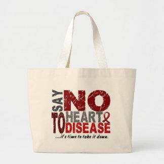 Diga NO a la enfermedad cardíaca 1 Bolsa Tela Grande