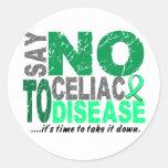 Diga NO a la enfermedad celiaca 1 Etiqueta Redonda