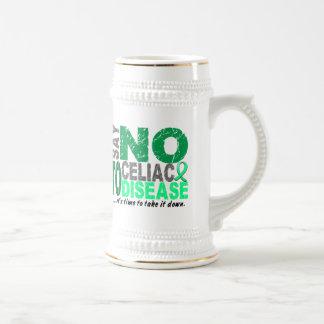 Diga NO a la enfermedad celiaca 1 Jarra De Cerveza