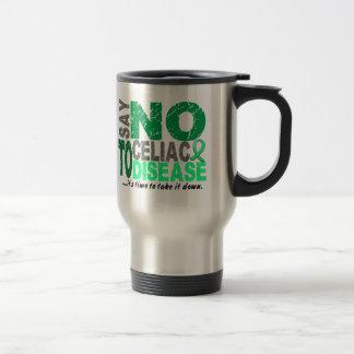 Diga NO a la enfermedad celiaca 1 Taza De Viaje De Acero Inoxidable